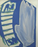 (Blauwe ladder), 2000, 95X75 cm., eitempera op doek/ egg tempera on canvas