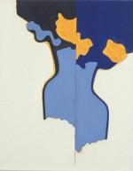 (Blauwe vaas, F90), 2003, 50X40 cm., eitempera op doek/ egg tempera on canvas