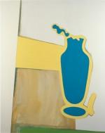 (Blauwe vaas, F95), 2003, 160X130 cm., eitempera op doek/ egg tempera on canvas